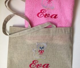 girls_bag_face_towel_dog_handmade