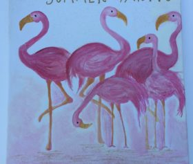 handmade_painting_flamingko_personalized